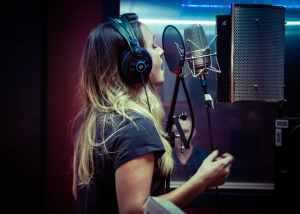 Grace Palmer Shortland Street Recording at Noise Control Studios - Corey Blackburn Photographer